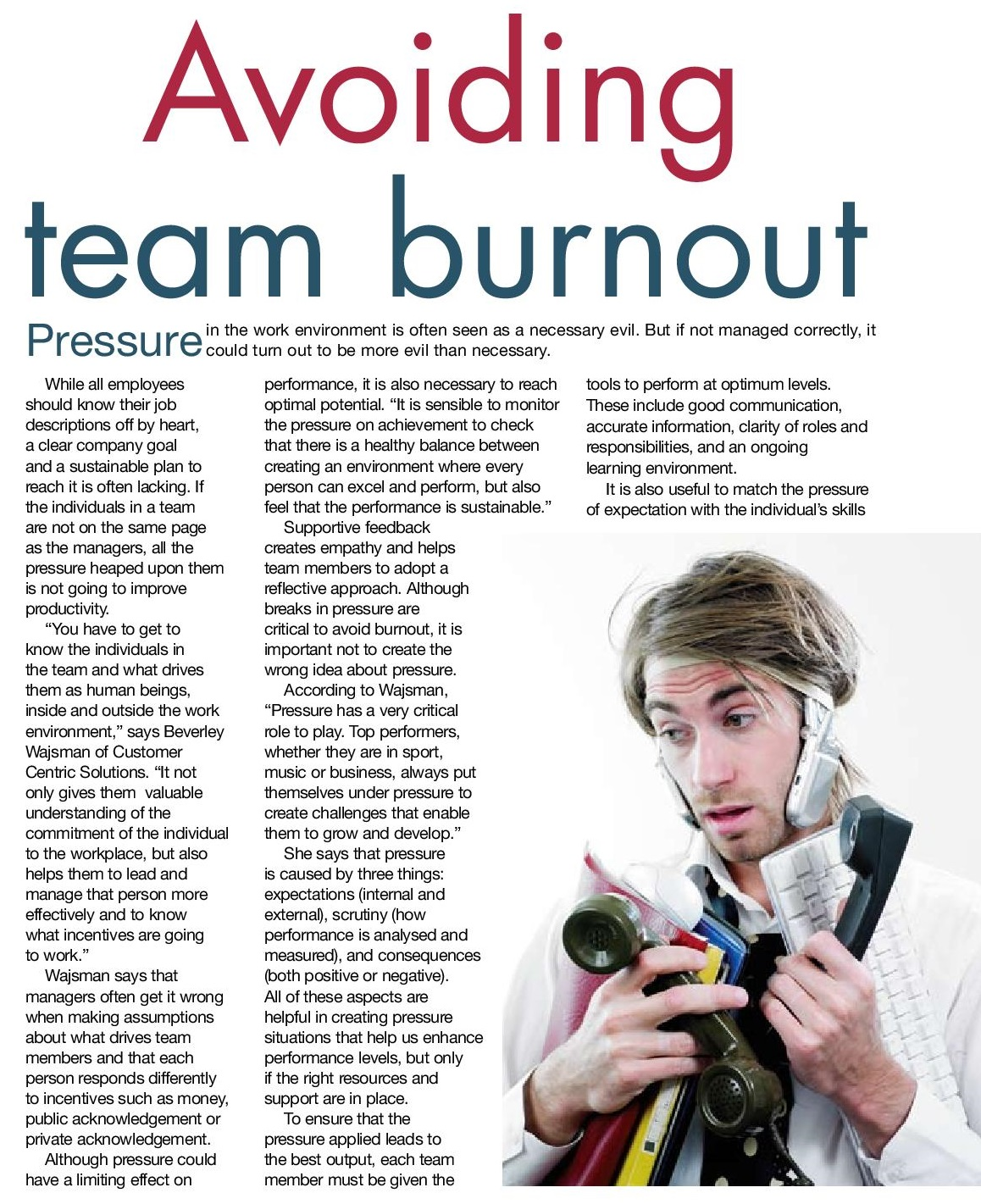Avoiding team burnout page 001